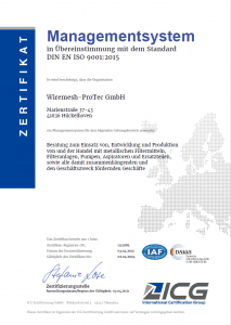 Wiremesh ProTec - Zertifikat
